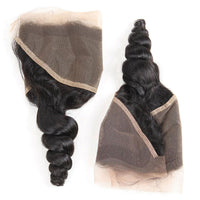 13*4 Lace Frontal Loose Wave, Loose Wave Free Part Closure-Donmily