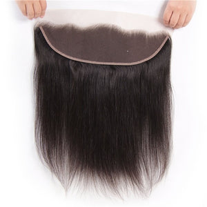 Donmily 9A Straight Hair Lace Frontal Closure Free Part 100% Real Human Hair