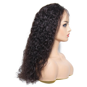 Donmily Water Wave 13*4 Lace Front Wigs 130% & 150% Density Virgin Human Hair Wig With Baby Hair Black Color, Fashion Hair Style Wigs