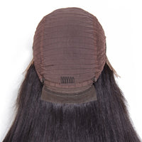 Peruvian straight lace front wigs