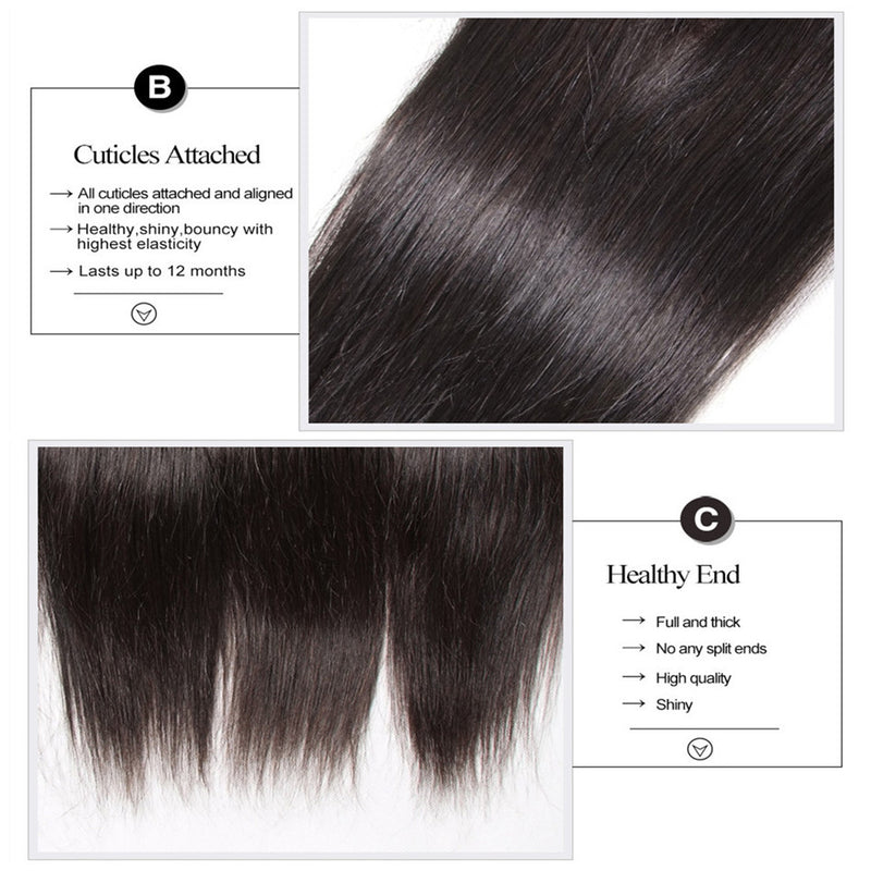Straight Human Hair 4*4 Lace Closure On Sale 10-20 Inch 1pc-Donmily