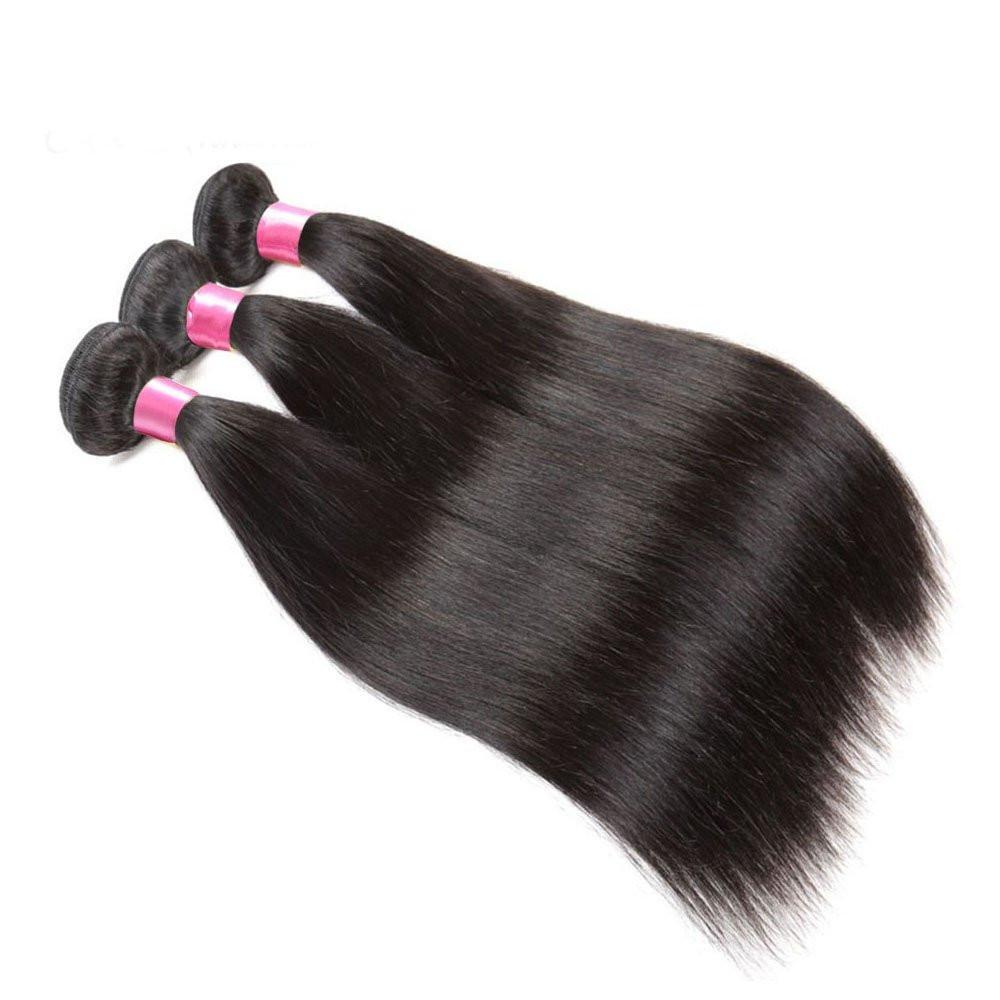 Donmily Brazilian Straight Hair 3 Bundles Unprocessed Virgin Hair Remy Human Hair Bundles 95-100g/pc