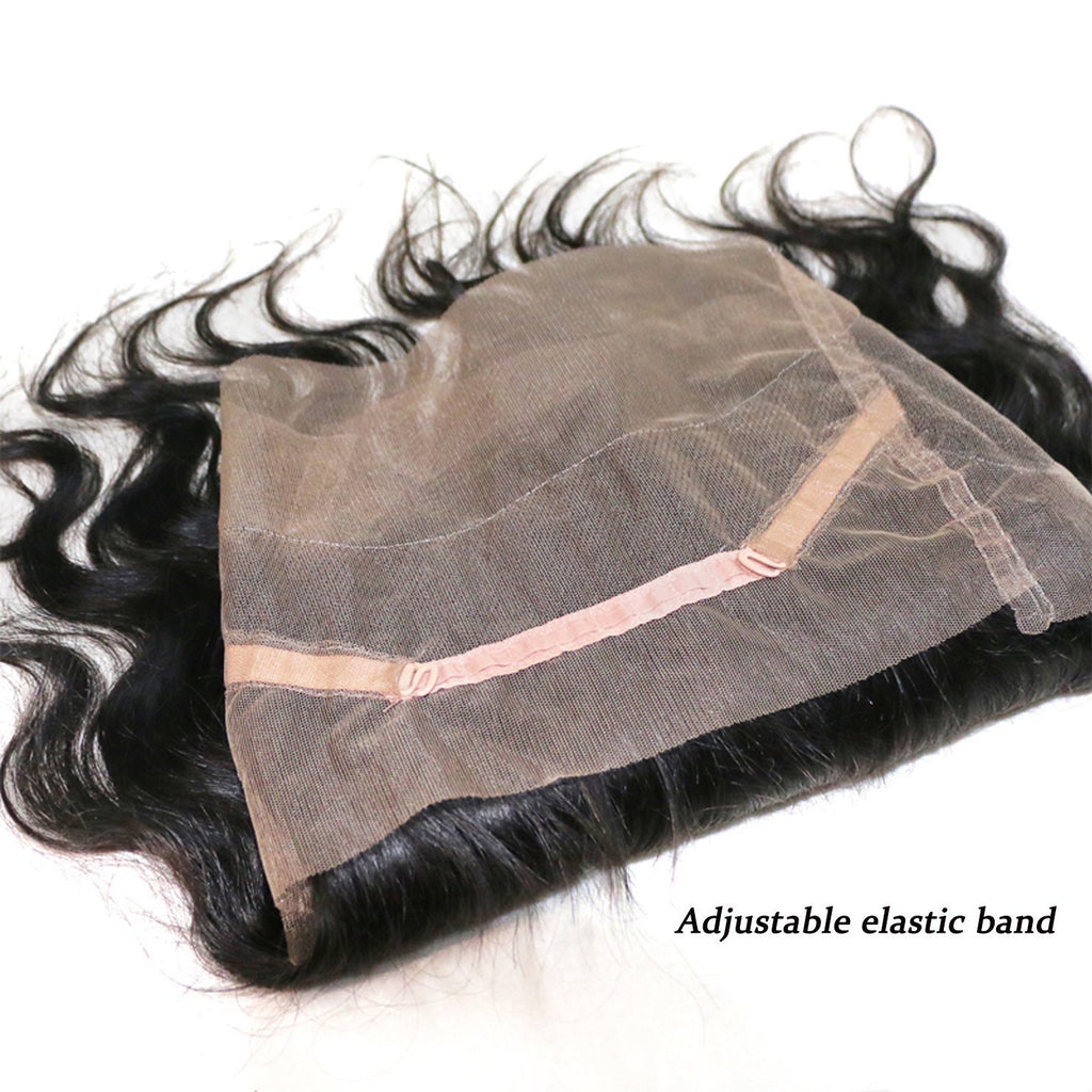 Donmily 3 Bundles Virgin Indian Body Wave Hair Bundles With 360 Lace Frontal Hair Closure