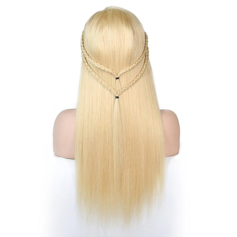 Donmily Top Grade 613# Lace Front Straight Human Hair Wigs Blond Color 130% & 150% Density, 100% Virgin Remy Human Hair