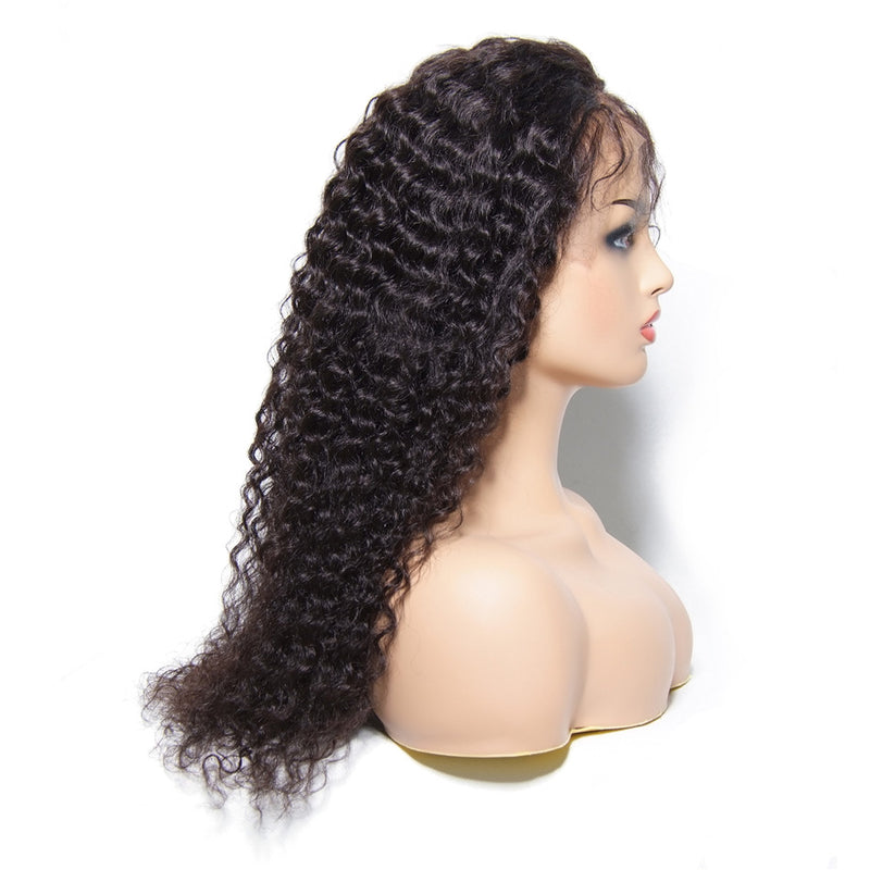 Wigs Jerry Curly Lace Front Side