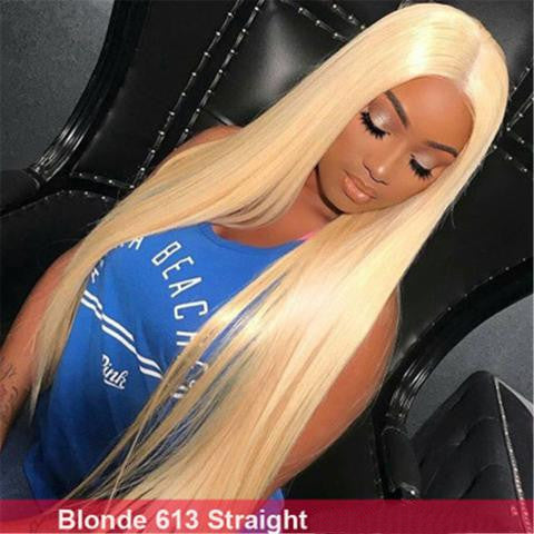 Blond 613# Straight Full Lace Wig