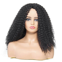 Donmily Kinky Curly Synthetic Wigs Medium Length Color 1B#, 27#