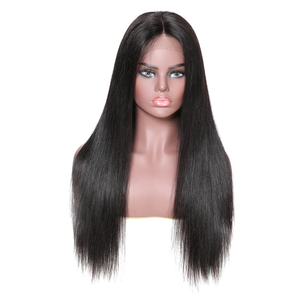 Donmily Straight Hair Wigs, 150% Density 13*6 Lace Front Human Hair Wig With Baby Hair 12-28 Inches