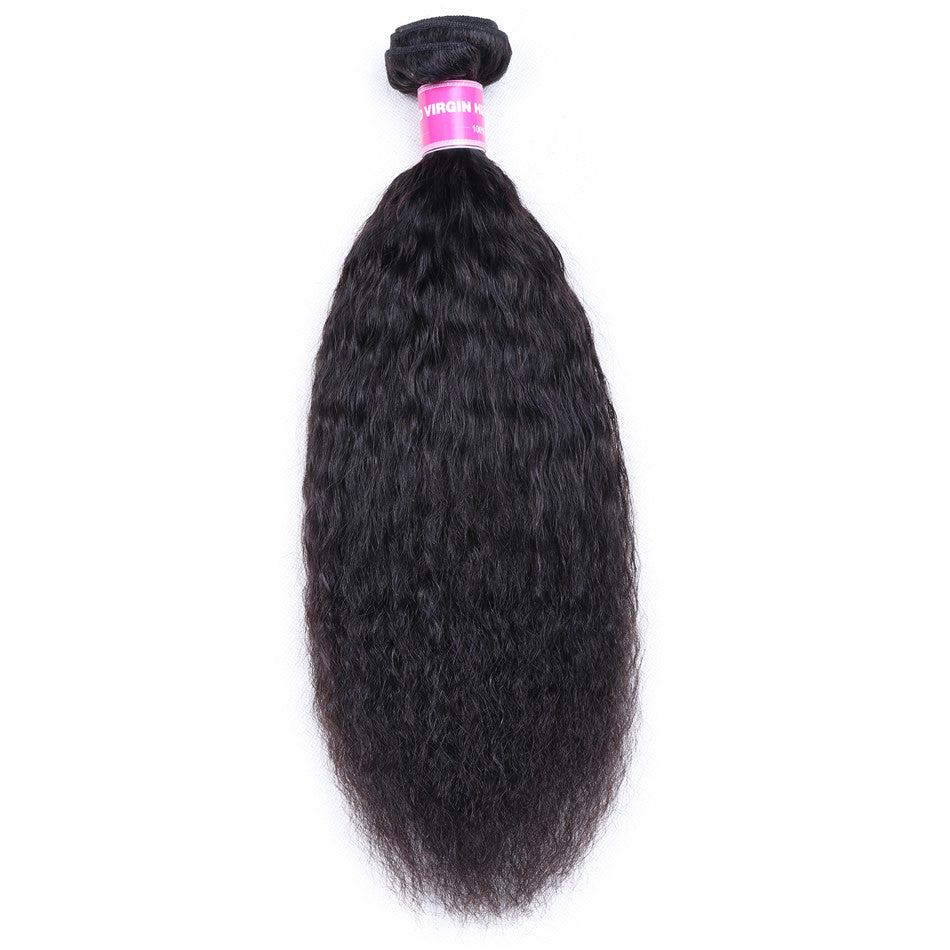 Donmily Hair 1 Piece Kinky Straight Hair Weave ,Kinky Straight Hair Bundle, Human Hair Weaving For Sale