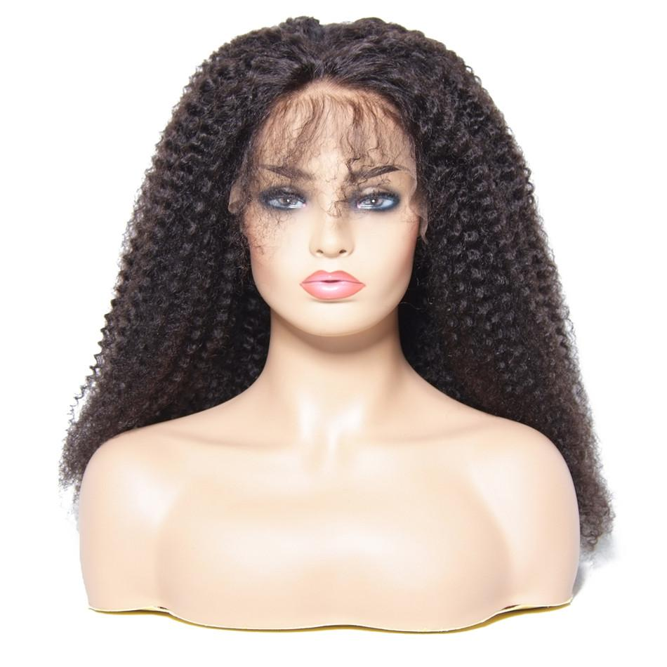 Brazilian Hair Wigs Kinky Curly Lace Front