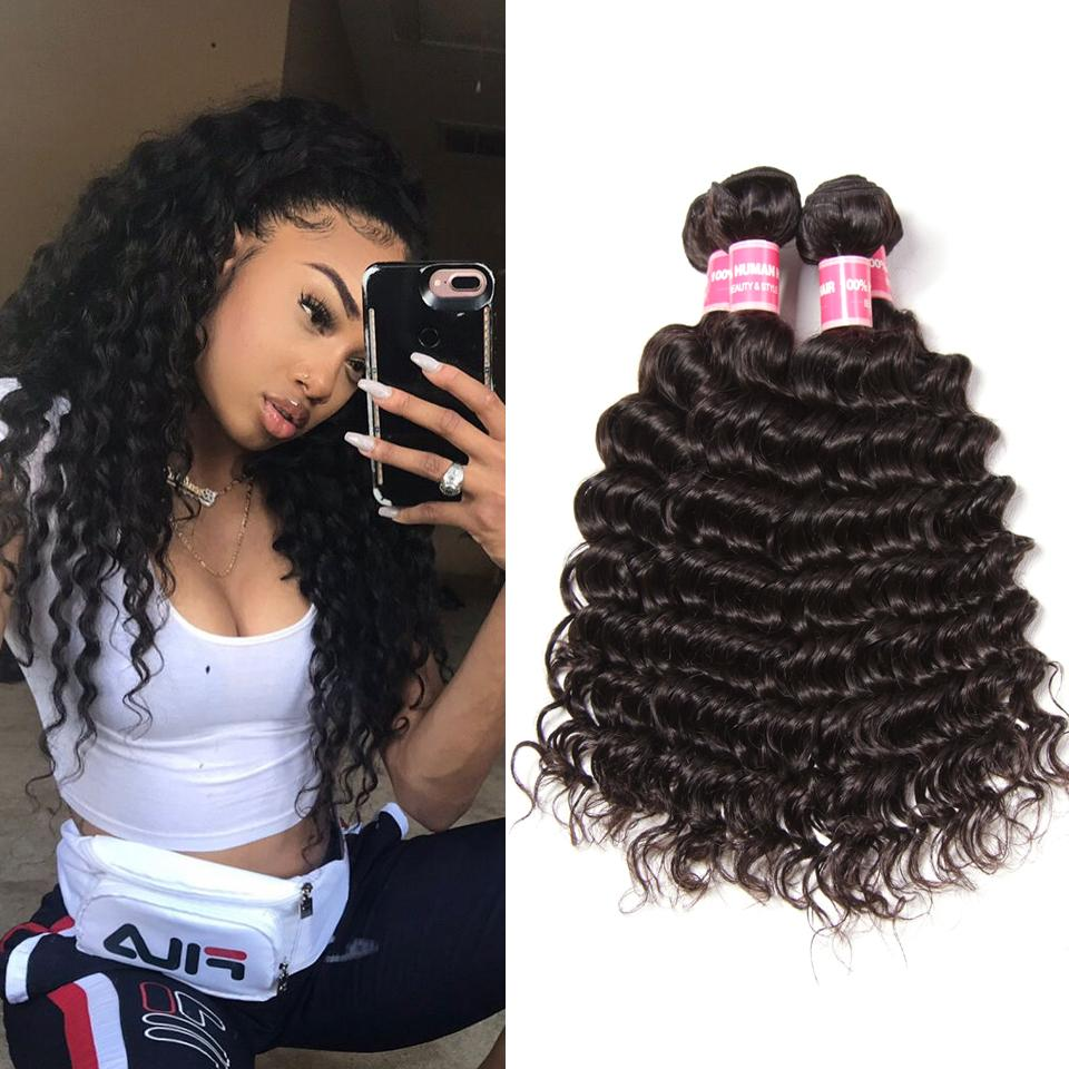 4 Bundles Malaysian Deep Wave Curly-Donmily Hair