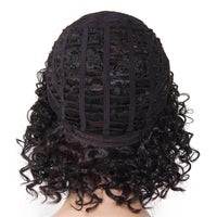 Short Synthetic Hair Wig Jerry Curl Color F1B/33#