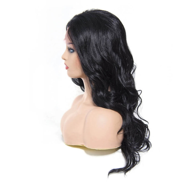 Donmily High Quality Synthetic Wig Body Wave Lace Front Wig Free Part