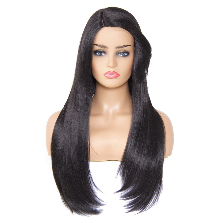 Donmily Good Quality Invisible Skin Kanekalon Synthetic Wig Straight