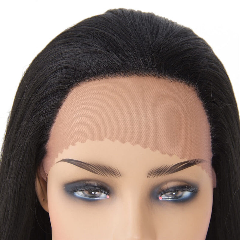 Synthetic Straight Lace Front Wig Free Part Long Wigs