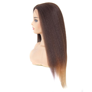 Donmily Ombre Color 4/27/30# Kinky Straight Synthetic Wigs