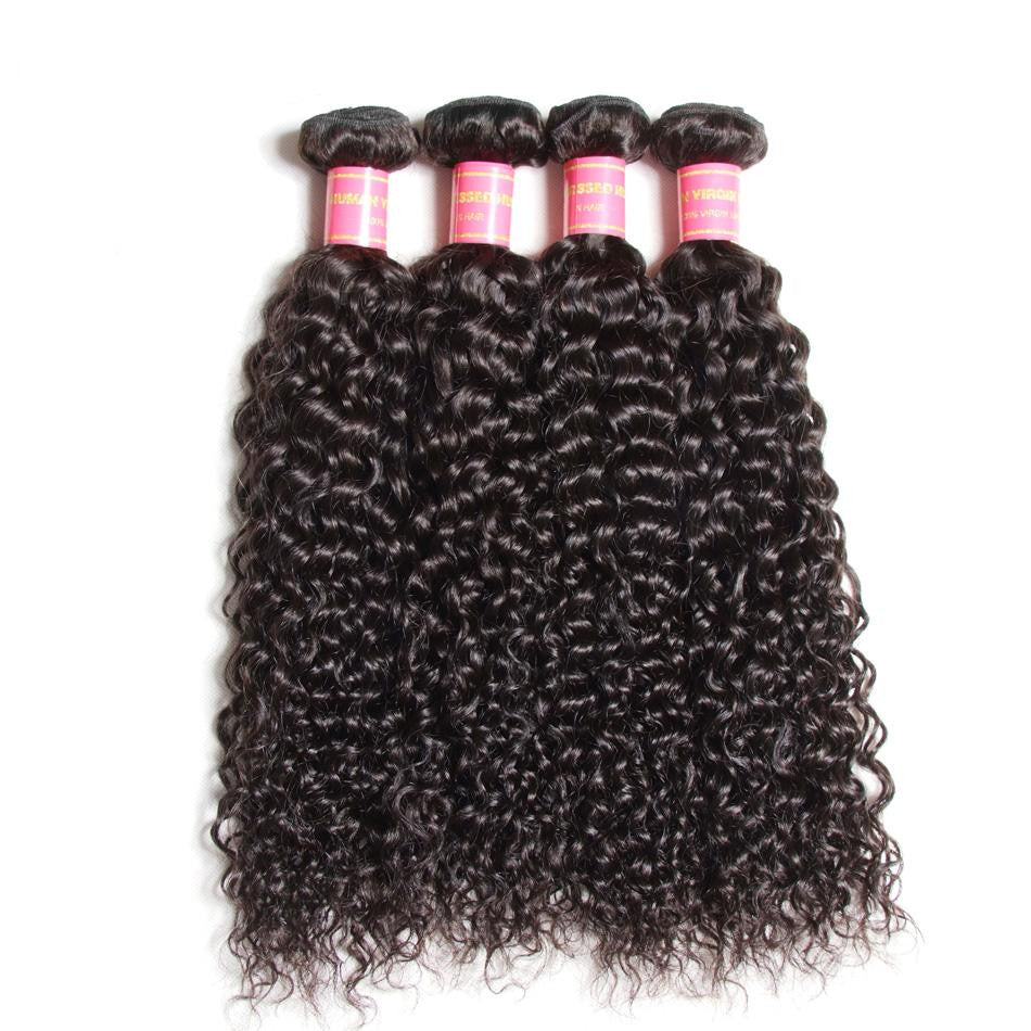 Donmily 9A Grade Virgin Brazilian Curly Hair Weave 4 Bundles