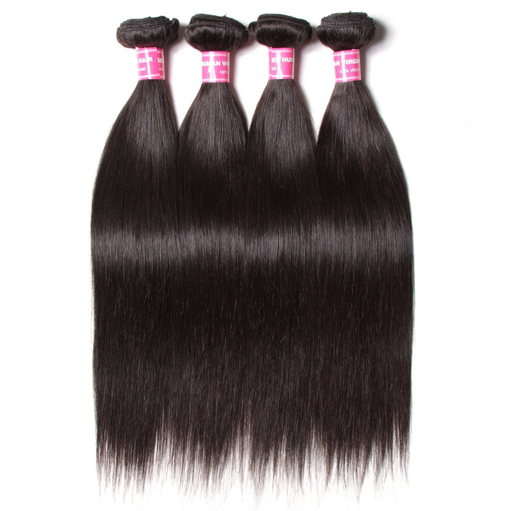 Good Cheap 9A Virgin Hair 4 Bundles Peruvian Straight Hair Weave 100% Human Hair Unprocessed Virgin Straight Hair Weave Bundles