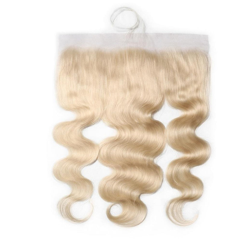 Donmily Gorgeous Blond 613 Color Body Wave Lace Frontal 13*4 Closure Free Part 100% Real Human Hair