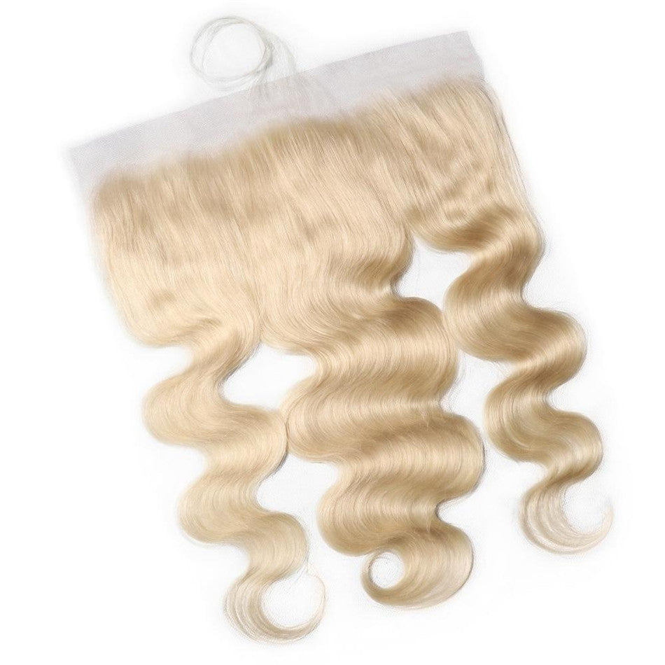 Gorgeous Blond 613 Color Body Wave Lace Frontal 13*4 Closure Free Part 100% Real Human Hair-Donmily