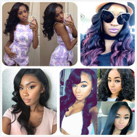 Donmily 3 Bundle Deals Virgin Body Wave Indian Hair Weave With Lace Closure(Three Part)