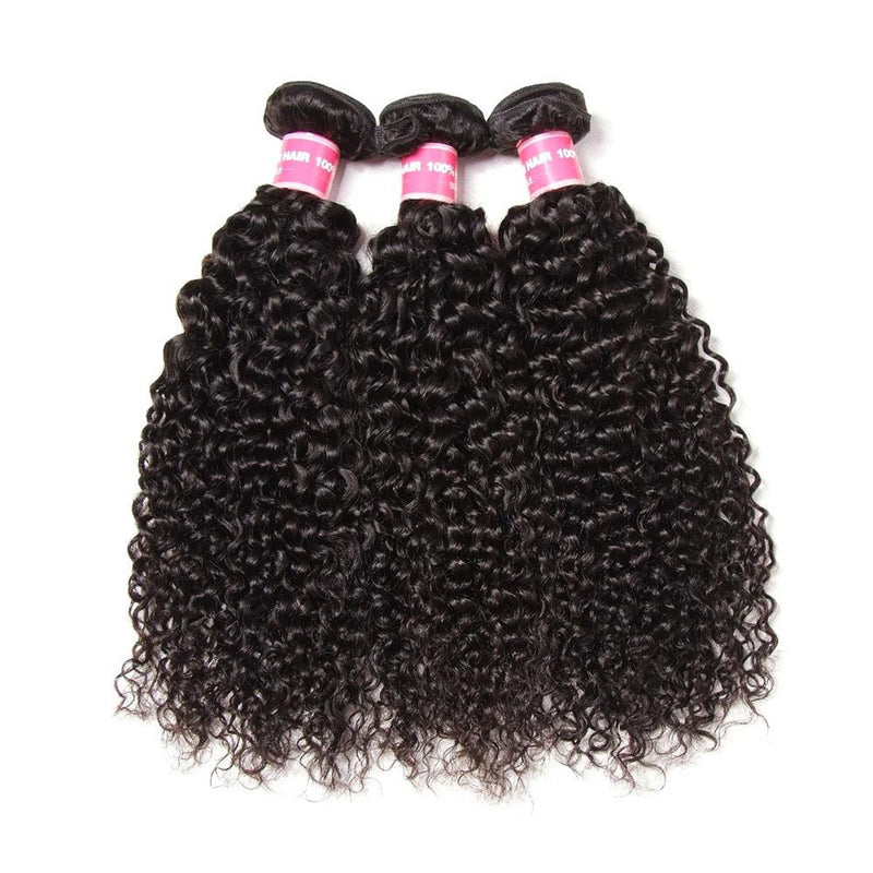 Donmily 9A Brazilian Curly Hair 3 Bundles, 100% Virgin Human Hair Weave Extensions On Sale