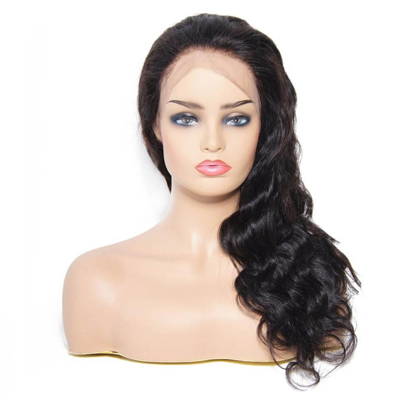 9A 360 Lace Body Wave 150% Density Human Hair Wig With Baby Hair Pre Plucked