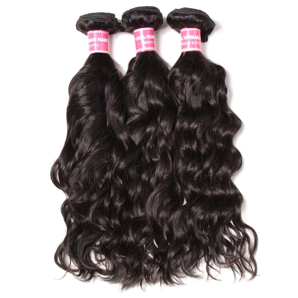 Donmily 9A Grade Brazilian Natural Wave 3 Bundles Human Hair Weft Natural Color 95-100g/PC