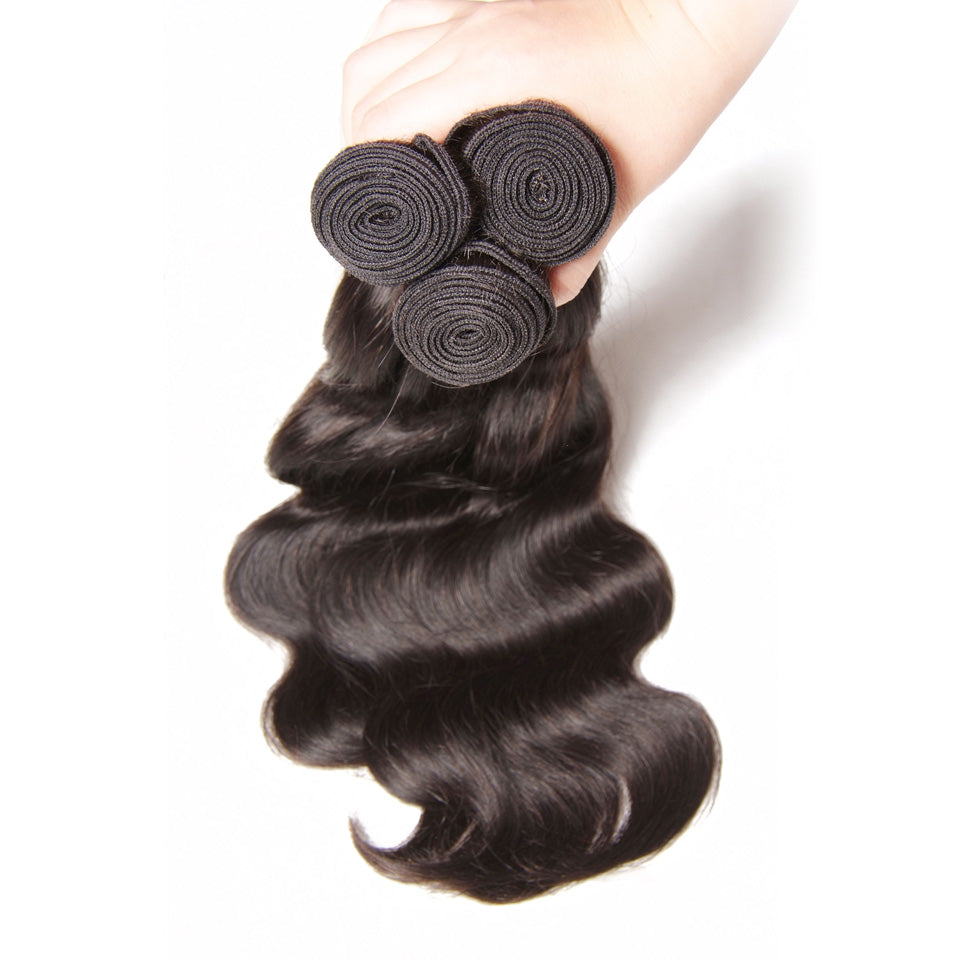Virgin Malaysian Body Wave 4 Bundles with Lace Closure-Donmily Hair
