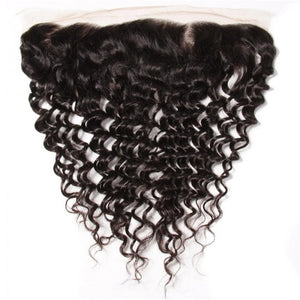 Deep Wave 13*4 Ear to Ear Lace Frontal Closure-Donmily Hair