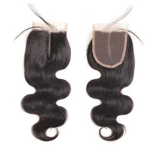 5*5 Lace Closure Body Wave With Baby Hair Free Part Black Color 1pc-Donmily Hair