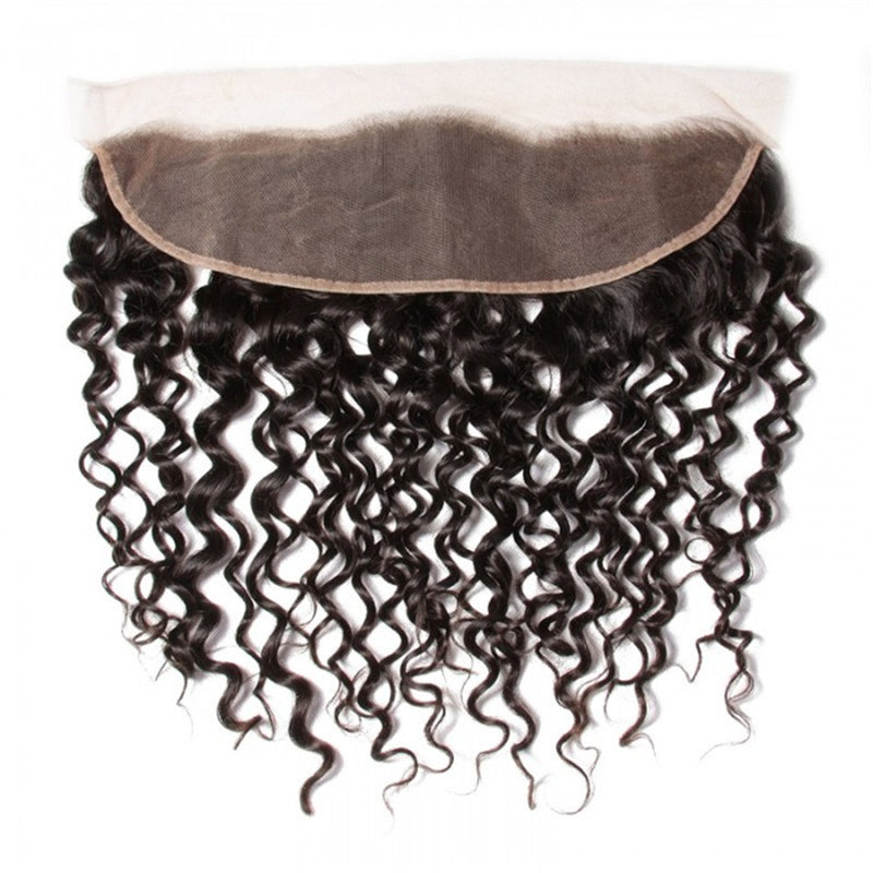 Donmily Virgin Curly Hair 13x4 Lace Frontal, Ear to Ear,Free Part, No Shedding No Tangle