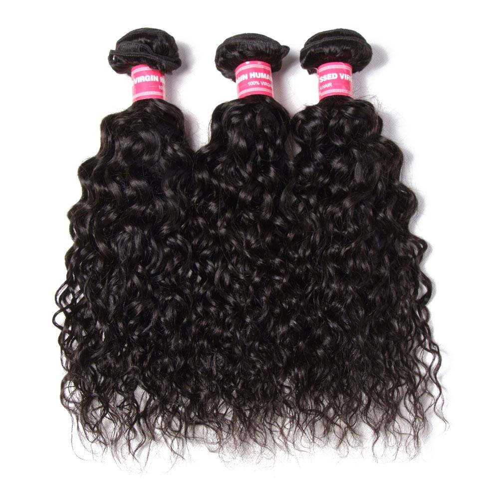 3 Bundles Peruvian Water Wave with 4*4 Lace Closure-Donmily Hair