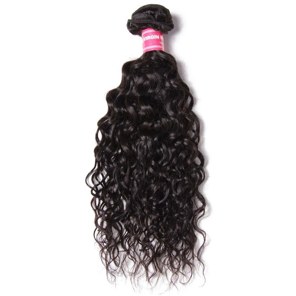3 Bundles Indian Water Wave with 4*4 Lace Closure-Donmily Hair