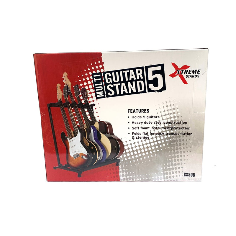 Xtreme GS805 Multi Guitar Stand - for 5 guitars