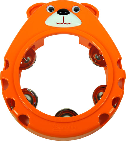 Bambina Orange Bear Tambourine