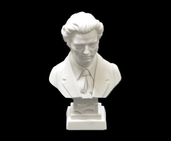Bust 11cm Crushed Marble - Chopin