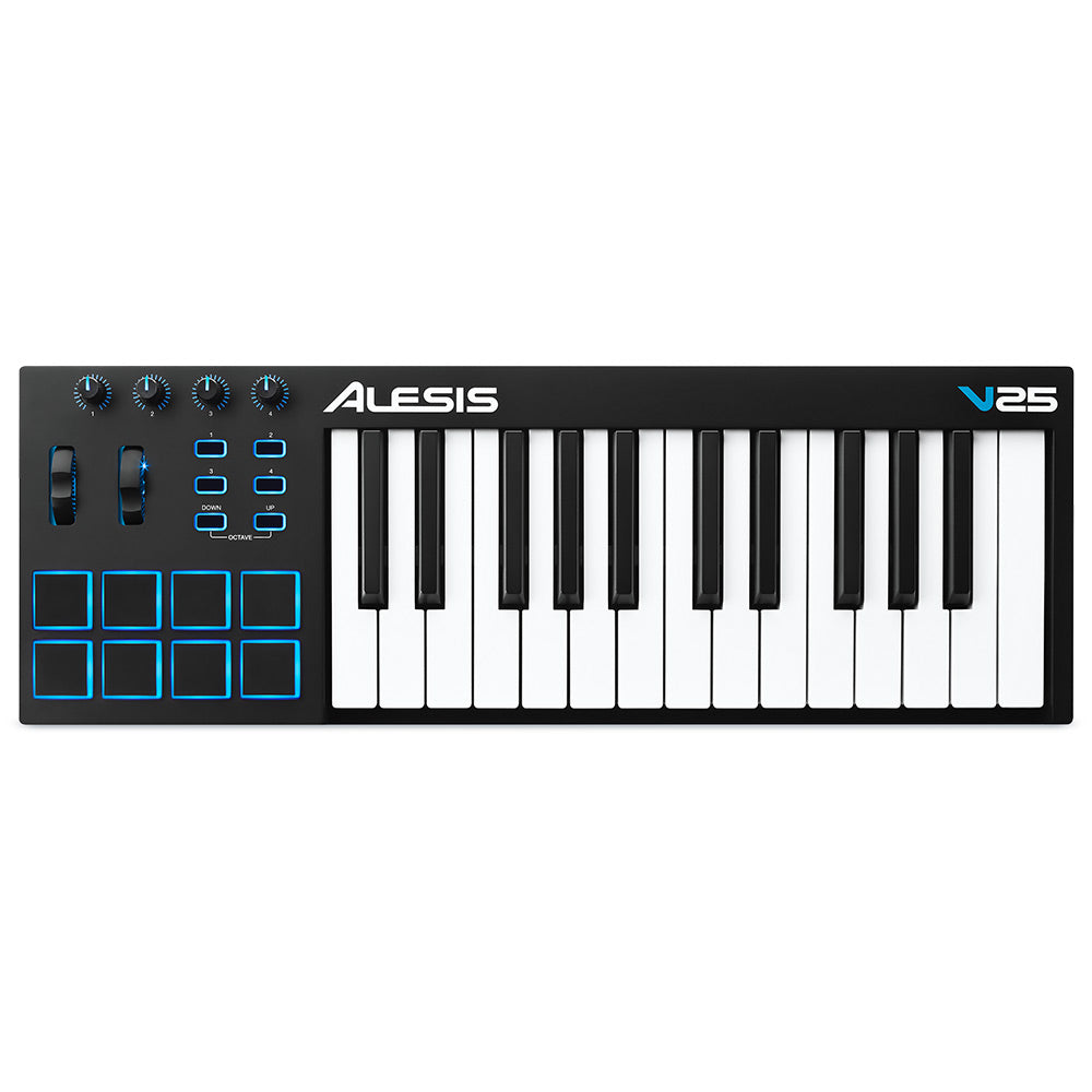 Alesis V25 USB/Midi Keyboard Controller 25 Note w/8 pads