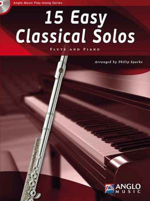 15 Easy Classical Solos for Flute w/ piano accompaniment and CD