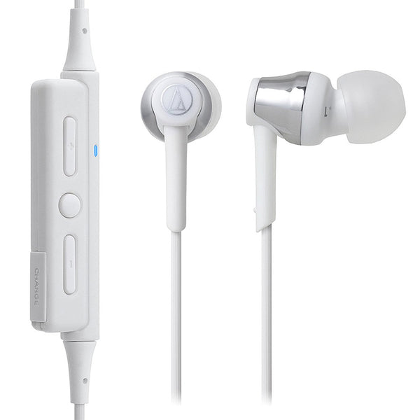 Audio-Technica ATH-CKR35BT Bluetooth Wireless In-Ear Headphones (White)