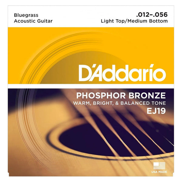 D'Addario EJ19 Phosphor Bronze Set - Bluegrass, 12-56