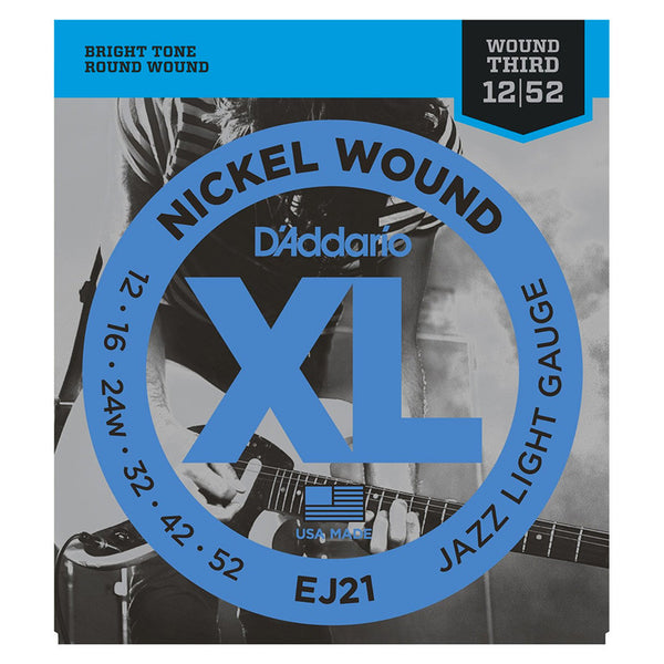 D'Addario EJ21 Nickel Wound Set - Jazz Light, 12-52