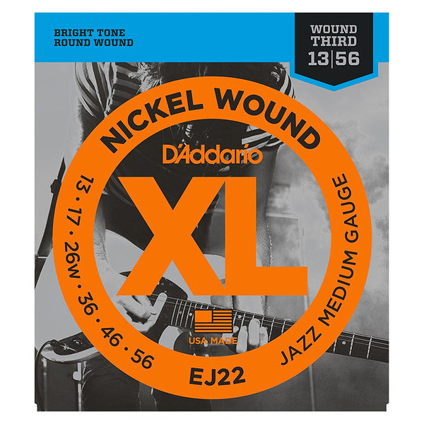 D'Addario EJ22 Nickel Wound Set - Jazz Medium, 13-56