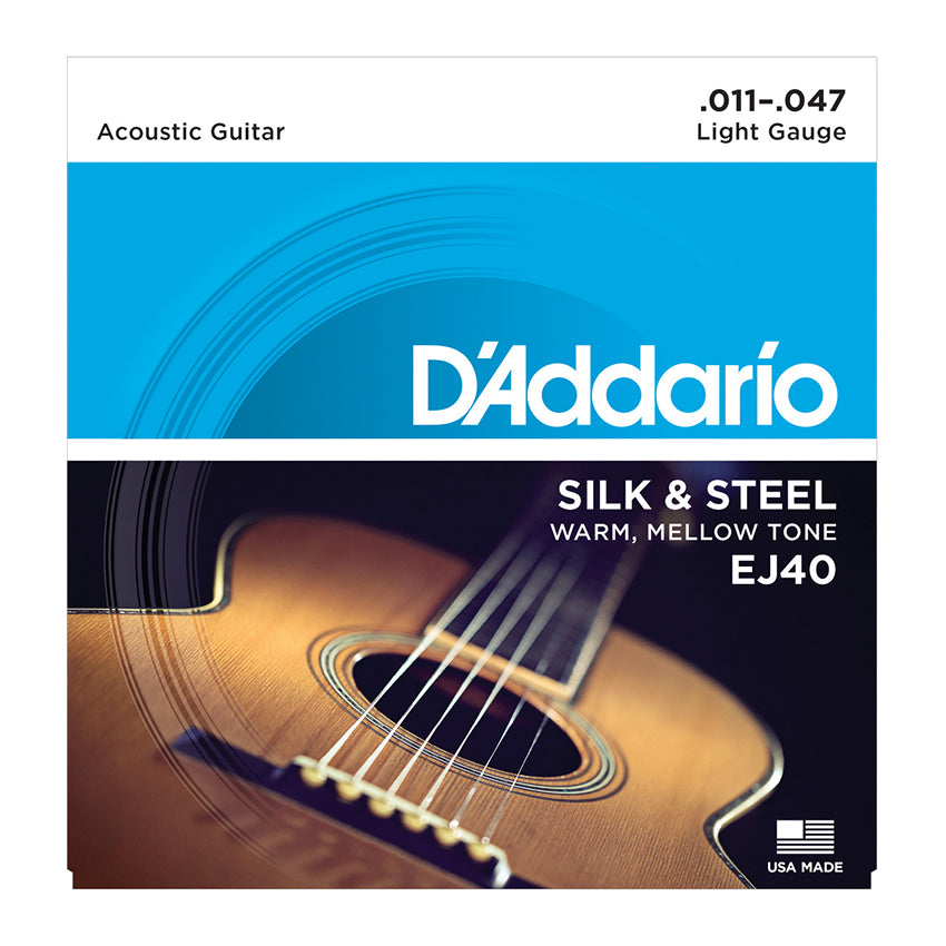 D'Addario EJ40 Folk Set - Silk and Steel 11-47