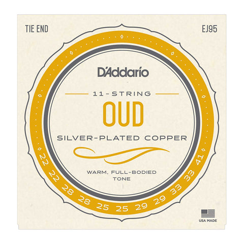 D'Addario EJ95 Oud 11-String Set, Nylon
