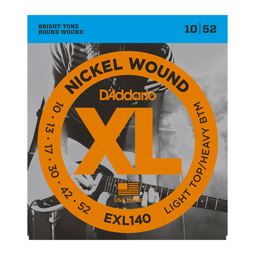 D'Addario EXL140 Nickel Wound, Light Top/Heavy Bottom, 10-52