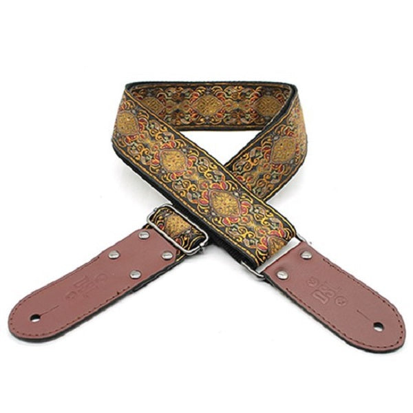 "DSL JAC20-APR-ORANGE Jacquard Weaving Guitar Strap - 2"" (APR-ORANGE)"