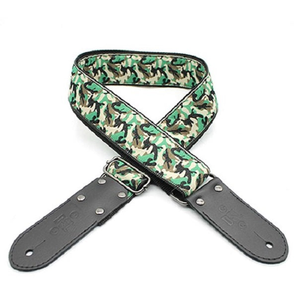 "DSL JAC20-CAMO-GREEN Jacquard Weaving Guitar Strap - 2"" (CAMO-GREEN)"