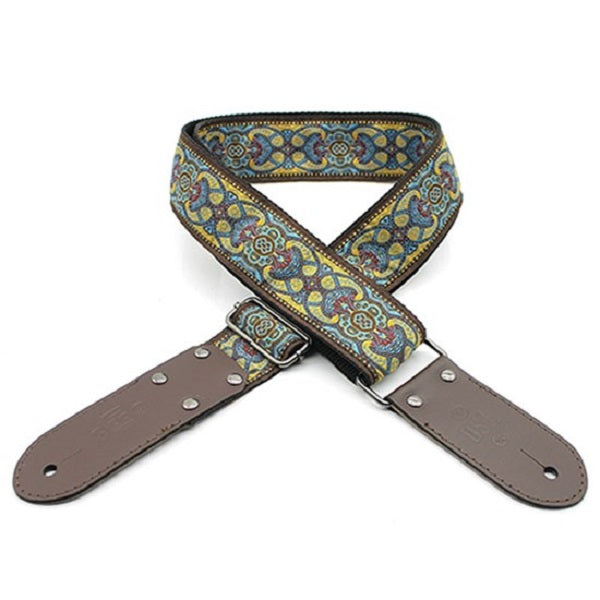 "DSL JAC20-TAD-YELLOW Jacquard Weaving Guitar Strap - 2"" (TAD-YELLOW)"