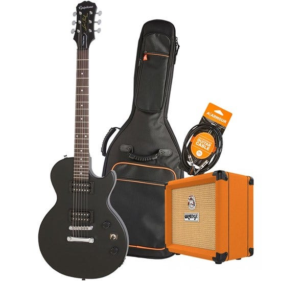Epiphone Les Paul Special VE Electric Guitar Pack w/ Orange Crush 12 & Accesories